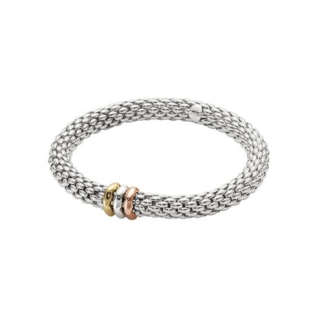 Fope 18ct White Gold Diamond Love Nest Bracelet