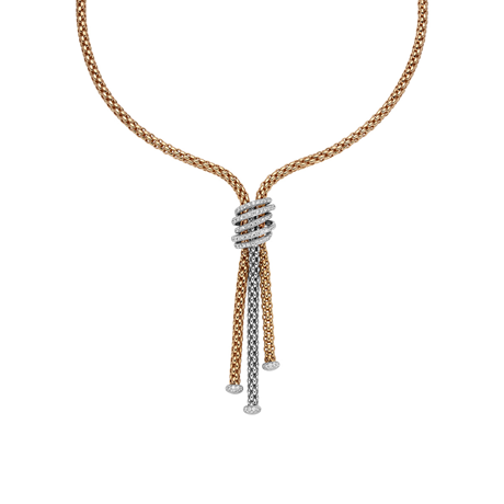 Fope 18ct White & Rose Gold Diamond MiaLuce Necklace