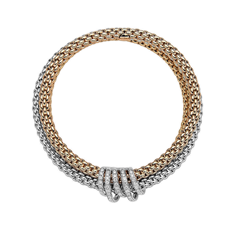 Fope 18ct White & Rose Gold Diamond MiaLuce Bracelet