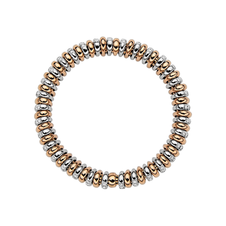 Fope 18ct Rose Gold Diamond Vendome Bracelet