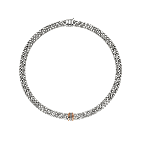 Fope 18ct White & Rose Gold Panorama Exclusive Necklace