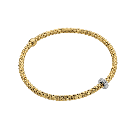 Fope 18ct Yellow Gold Prima Diamond Bracelet