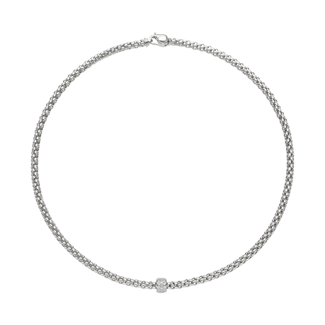 Fope 18ct White Gold Solo Necklet