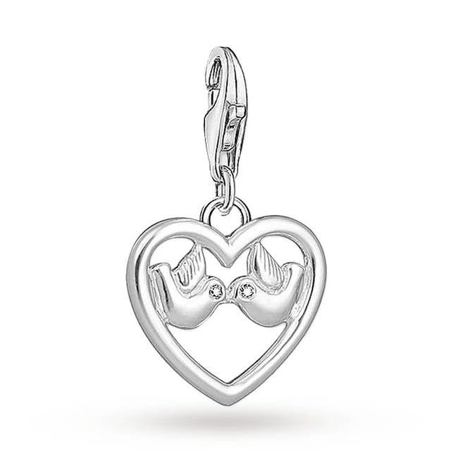 Thomas Sabo Charm pendant Heart with doves white 1383-051-14 Thomas Sabo Free Shipping Marketable New Style Pre Order Online Low Price Fee Shipping Sale Online G8jrIRR3
