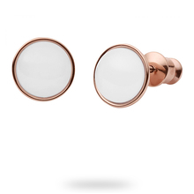 Skagen Sea Glass Rose Gold Tone Stud Earrings