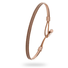 Skagen Rose Gold Tone & Brown Leather Bracelet