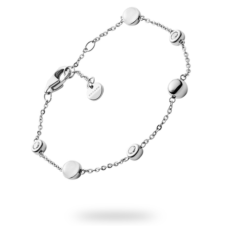 Skagen Silver Tone Sea Glass Bracelet