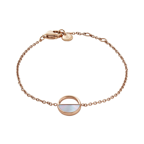 Skagen Agnethe Rose-Gold-Tone and Mother-of-Pearl Bracelet