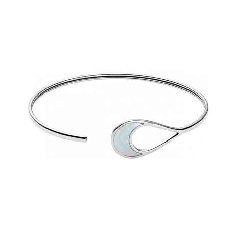 Skagen Agnethe Mother of Pearl Teardrop Open Bangle