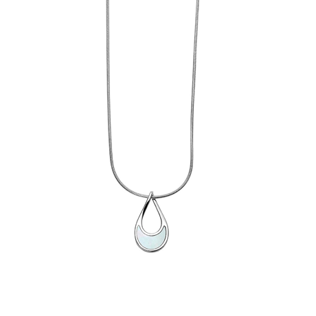 Skagen Agnethe Mother of Pearl Teardrop Pendant