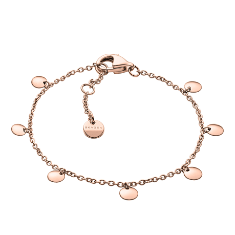 Skagen Anette Rose Coloured Charm Bracelet