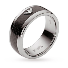 Emporio Armani Jewellery Mens Stainless Steel Ring - Ring Size W.5