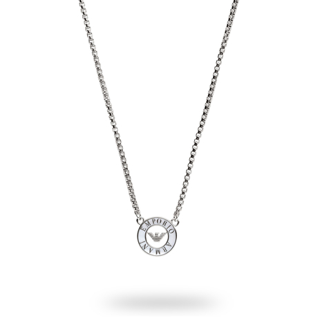 Emporio Armani Sterling Silver Logo Necklace
