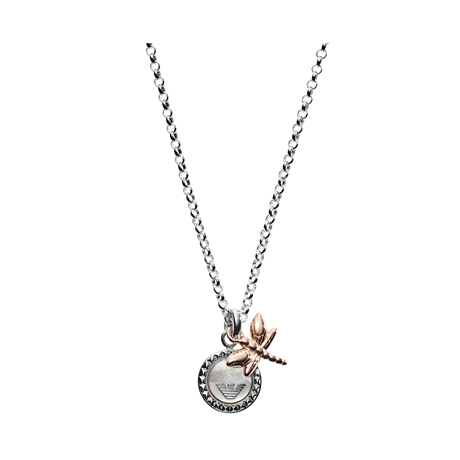 Emporio Armani Mother Of Pearl Dragonfly Pendant