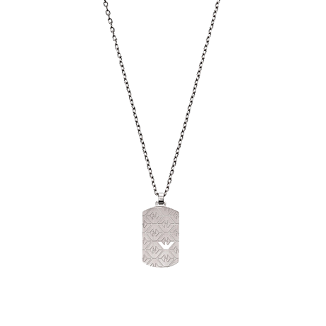 Emporio Armani Signature Stainless Steel Dog Tag