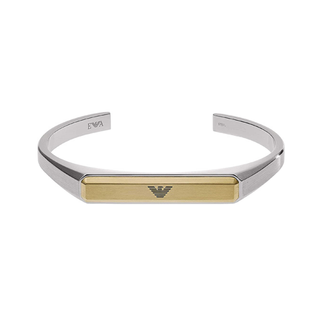 Emporio Armani Stainless Steel With Gold Colour Mens Bangle