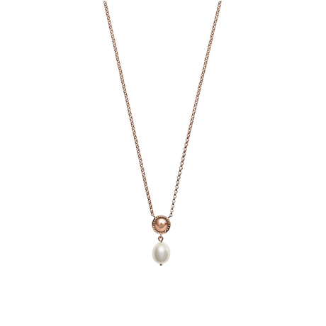 Emporio Armani Rose Gold Coloured Fresh Water Pearl Pendant