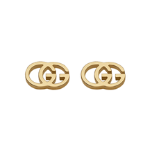 Gucci Double GG Tissue 18ct Gold Stud Earrings