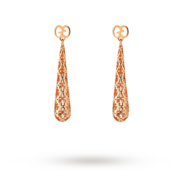 Gucci Diamantissima Rose Gold Drop Earrings