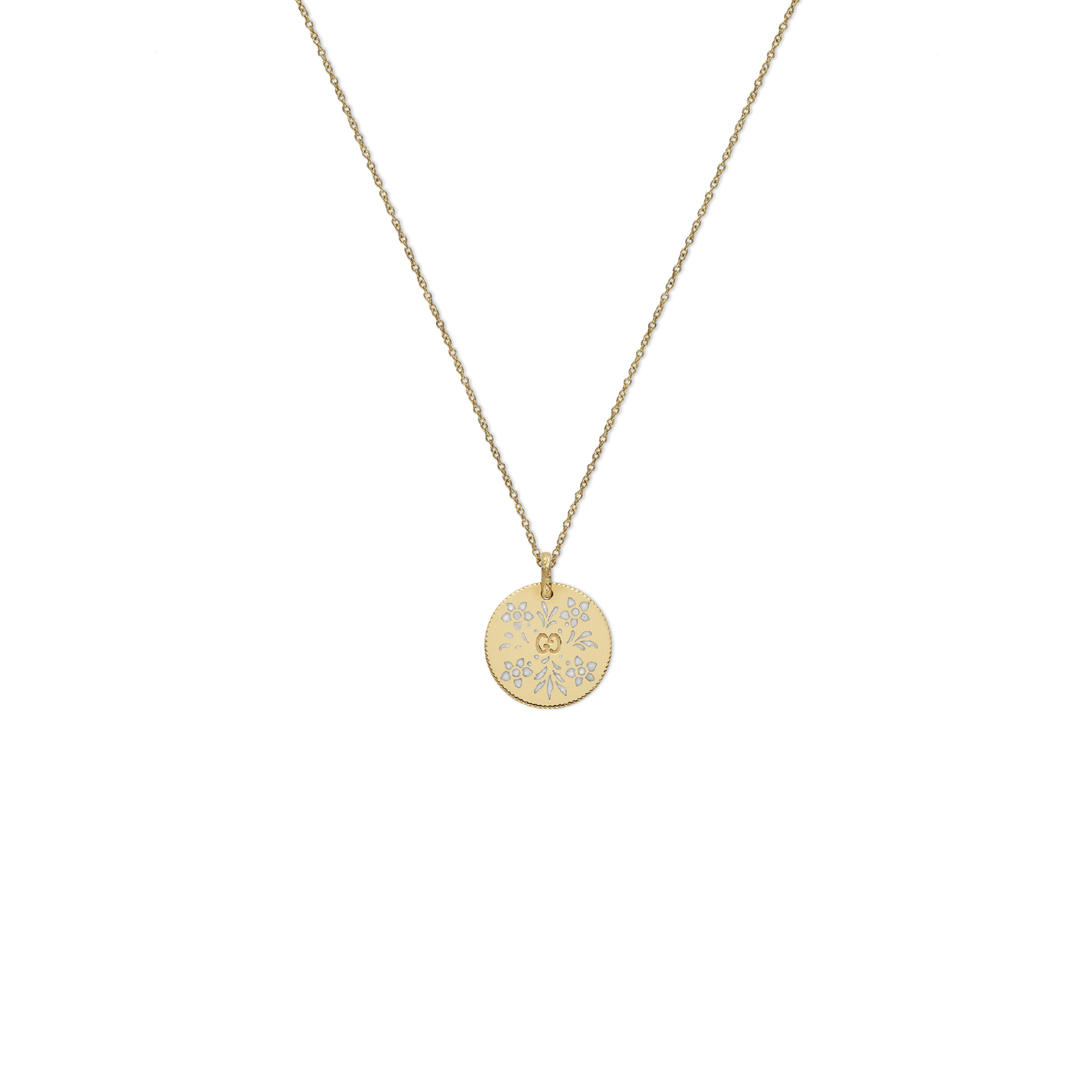 Gucci Gold Circle Icon Pendant Aa05JHnIp