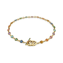 Gucci Running G 18ct Yellow Gold Multicolour Bracelet