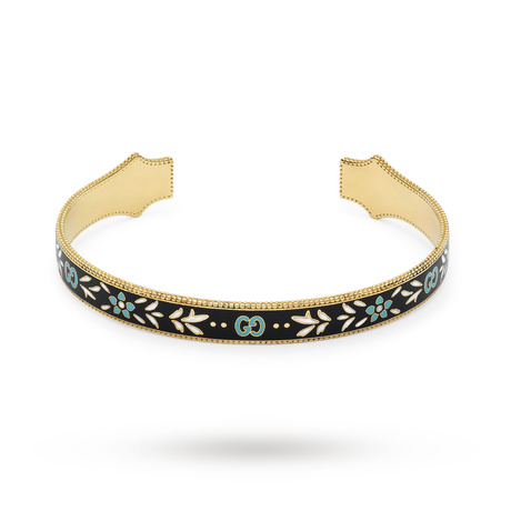 Gucci Icon Bracelet in 18ct Yellow Gold with Enamel