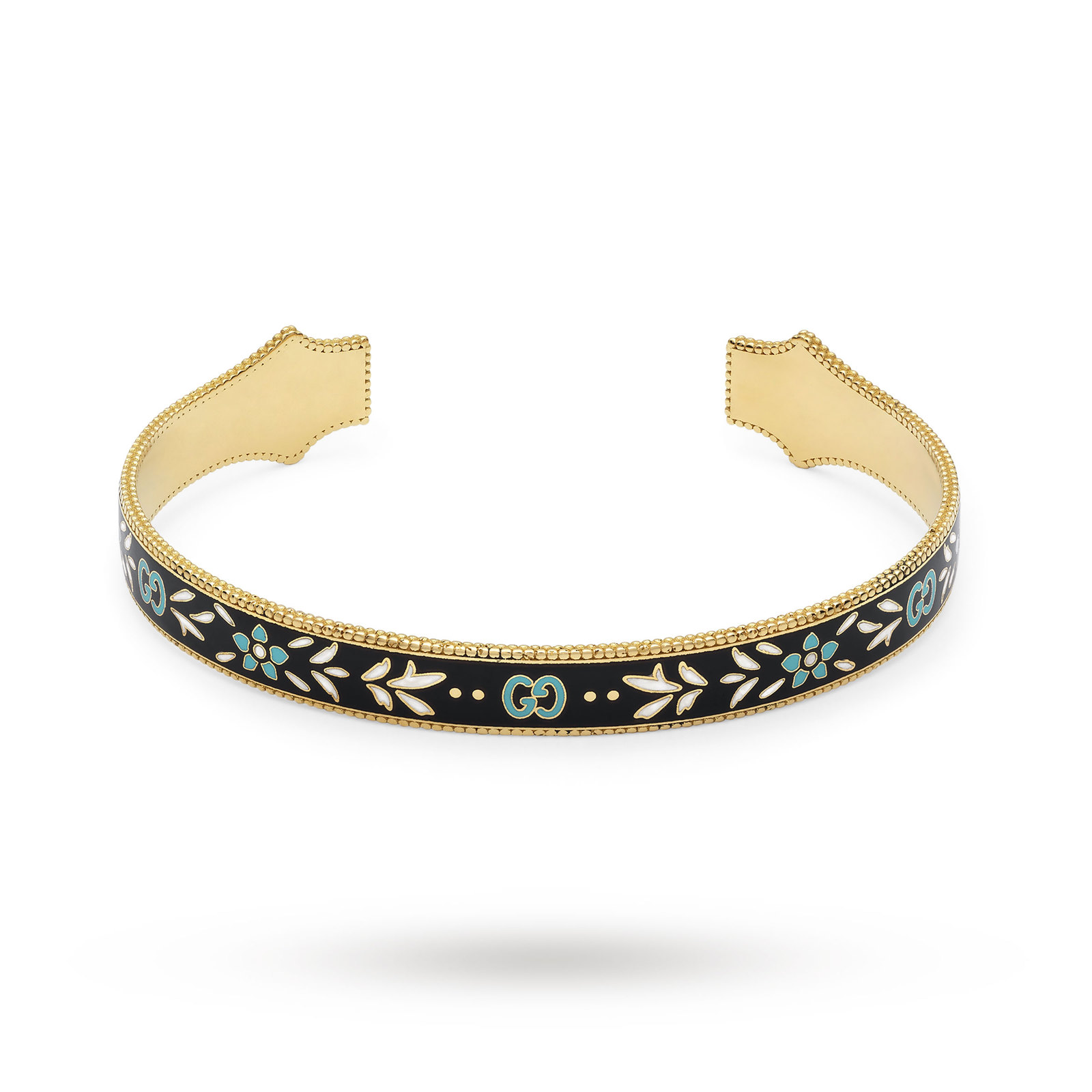 d0b0d2ac4b2 Gucci Icon Bracelet in 18ct Yellow Gold with Enamel