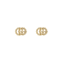 Gucci Running G Stud Earrings with Diamonds