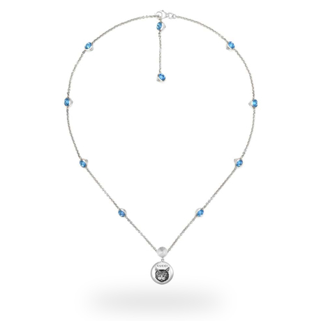 Gucci Blind for Love Blue Necklace