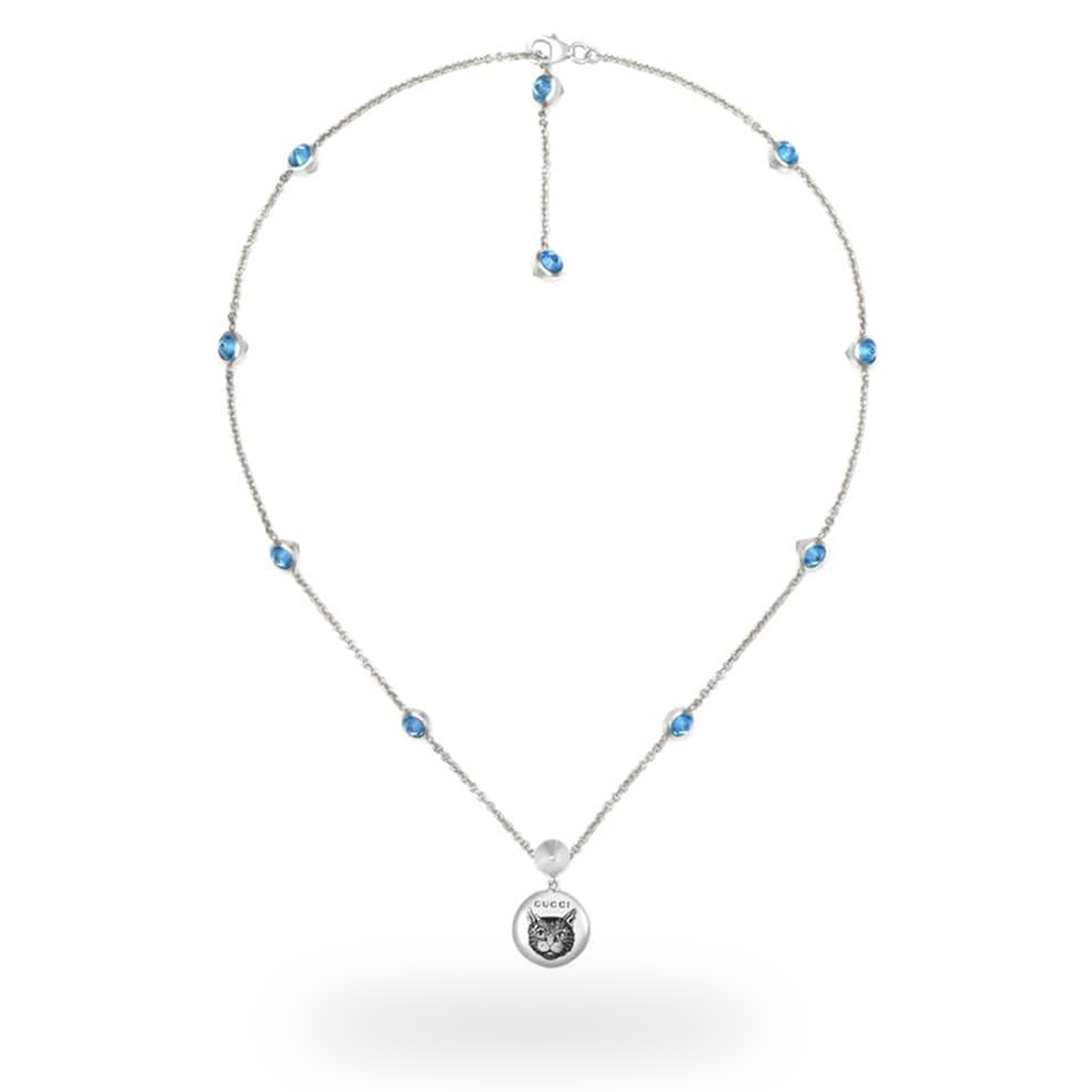 Gucci Blind for Love Blue Necklace thumbnail