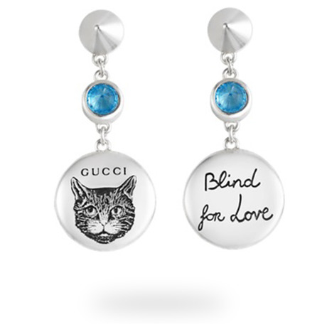 Gucci Blind for Love Blue Earrings