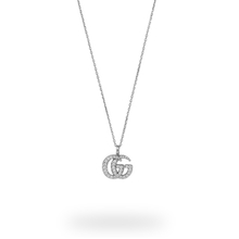 Gucci 18ct White Gold 2.02ct Diamond Double G Necklace