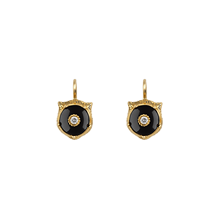 Gucci 18ct Yellow Gold Onyx & Diamond Feline Earrings