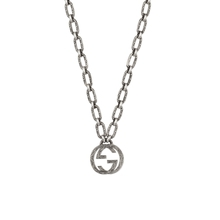 Gucci Interlocking G Dark Finish Silver Necklace