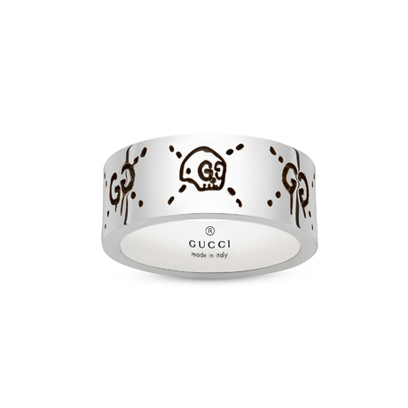 Gucci Ghost 9mm Ring in Silver