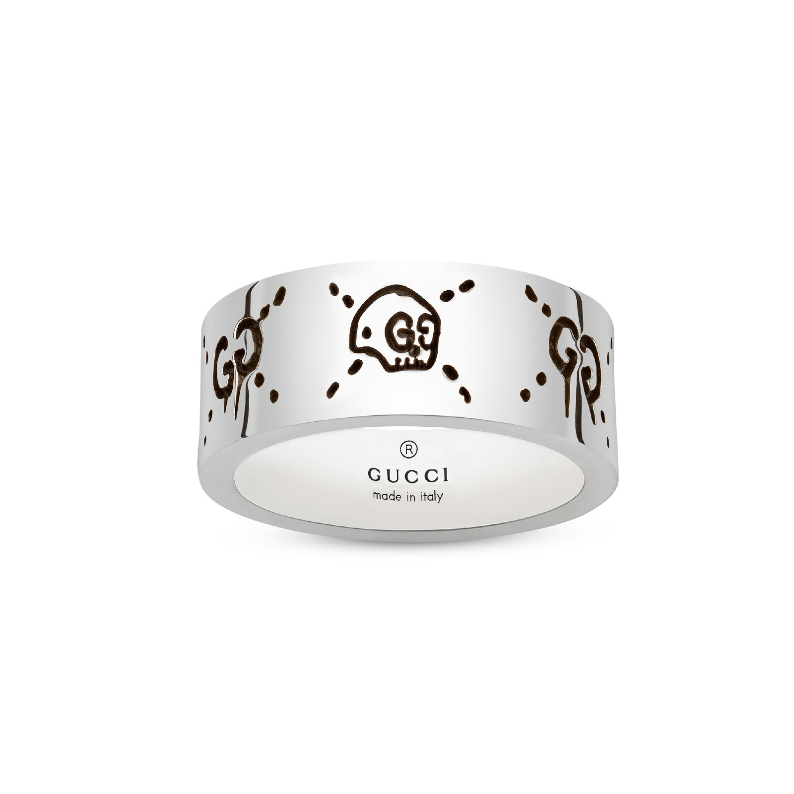 Gucci Ghost 9mm Ring in Silver - Ring Size N