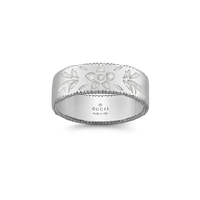 Gucci Icon 18ct White Gold Enamel 6mm Ring