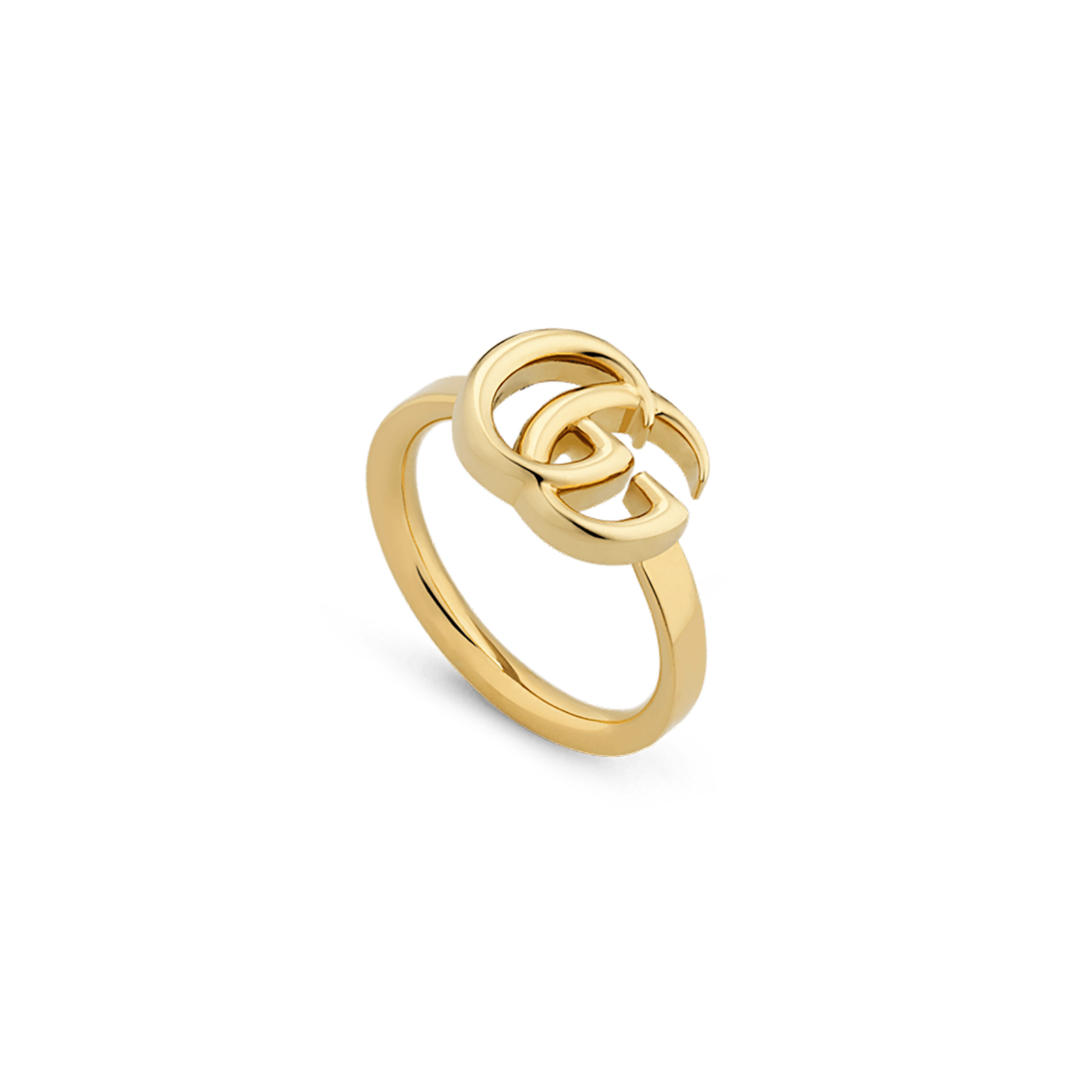 Gucci GG Running Yellow Gold Ring - Ring Size M.5