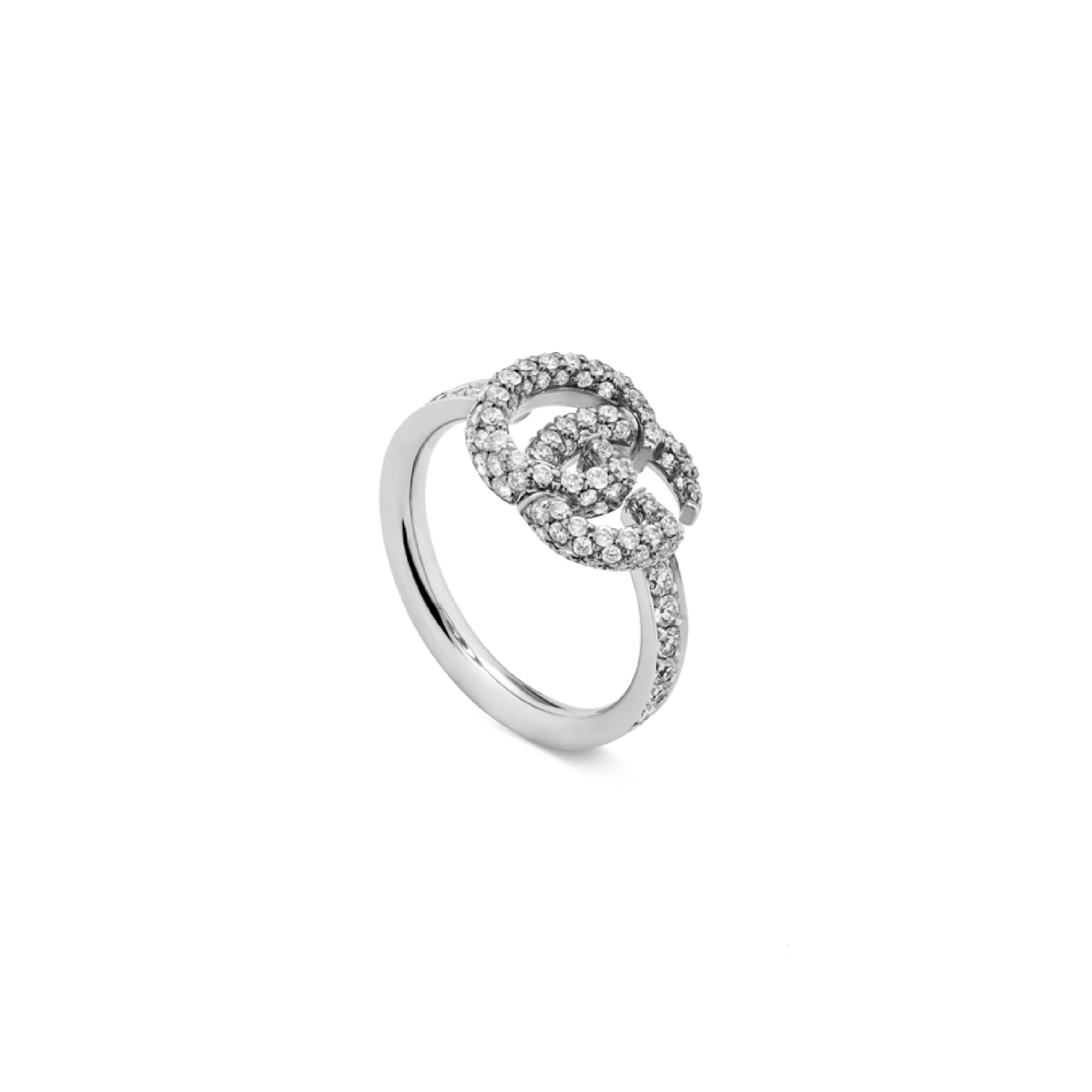 Gucci GG Running White Gold Diamond Ring - Ring Size P
