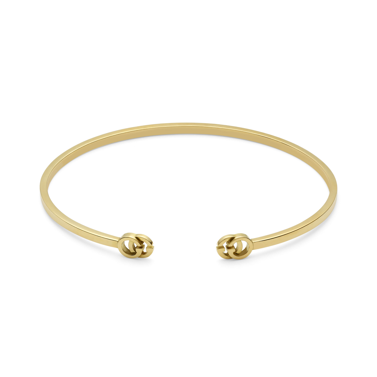 52ded2a5e Gucci Running G 18ct Yellow Gold Cuff | Bracelets | Jewellery | Mappin &  Webb