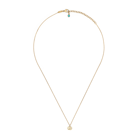 Gucci Running G Blue Topaz Necklace