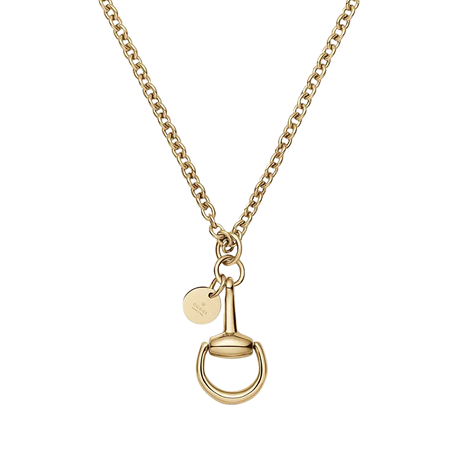 Gucci Horsebit Necklace In 18 Carat Rose Gold