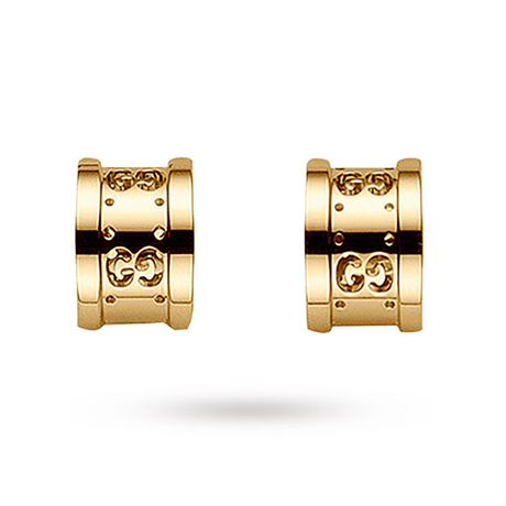 Gucci Icon 18ct Yellow Gold Stud Earrings