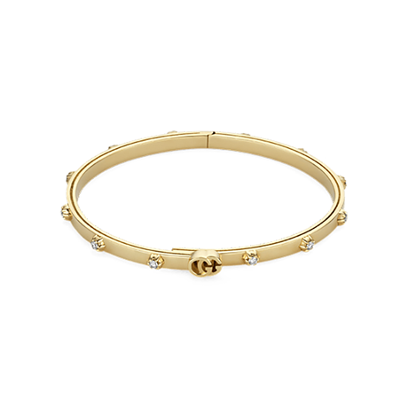 Gucci GG Running 18ct Yellow Gold 0.36ct Diamond Bangle