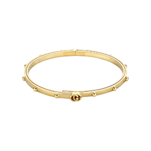Gucci GG Running 18ct Yellow Gold Bangle