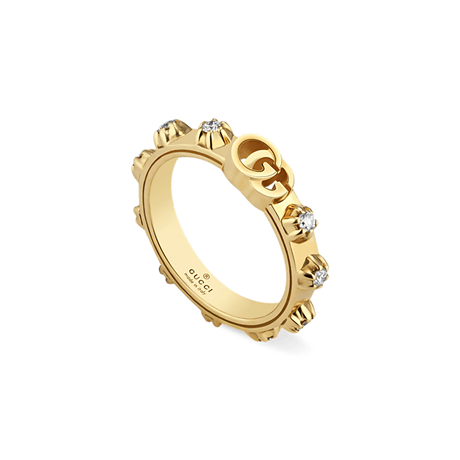 Gucci GG Running 18ct Yellow Gold 0.30ct Diamond Ring