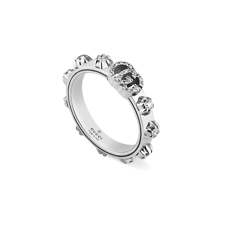 a623a56f189c58 Gucci GG Running 18ct White Gold 0.35ct Diamond Ring