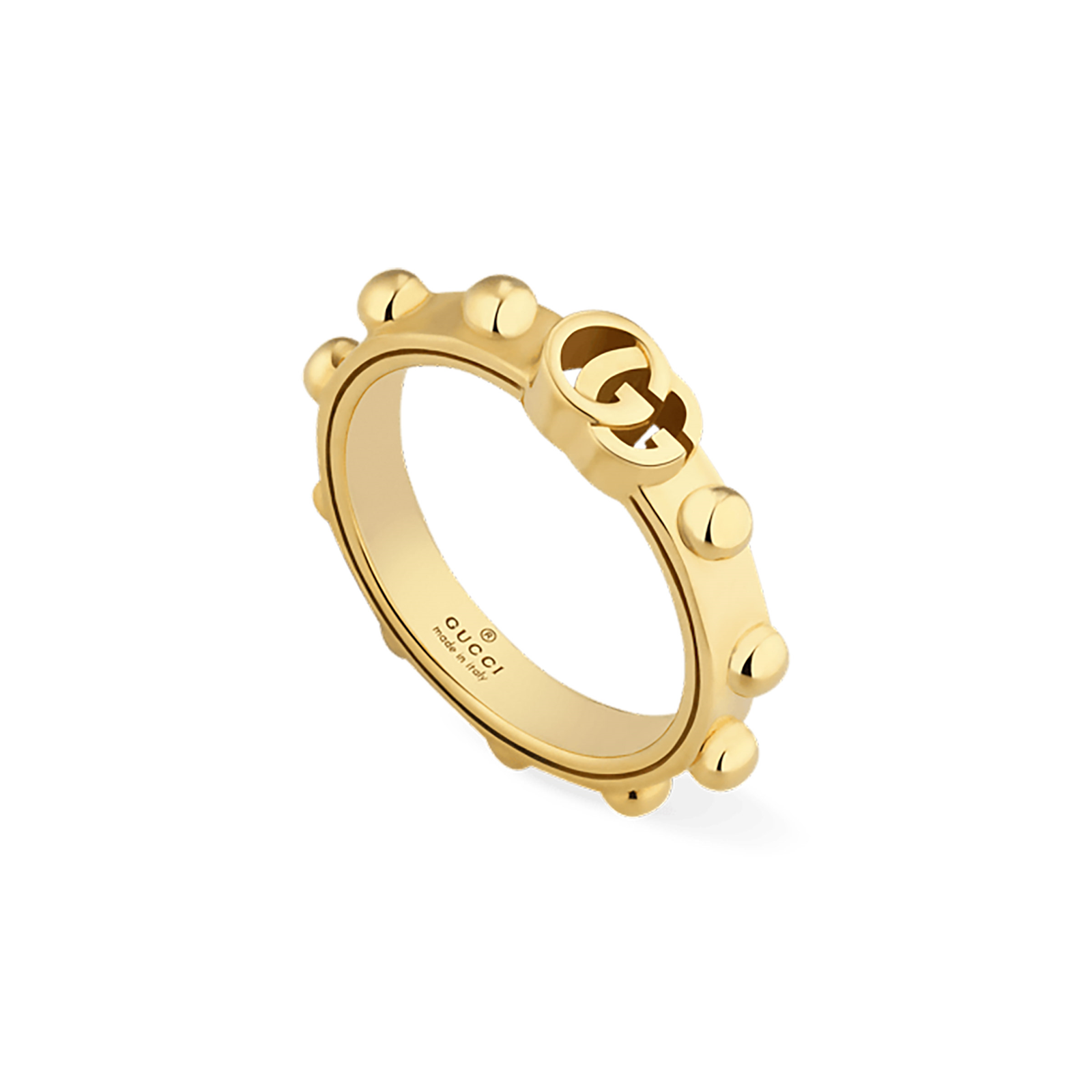 Gucci GG Running 18ct Yellow Gold Ring - Ring Size J