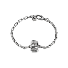 Gucci G Cube Silver Crystal Bracelet