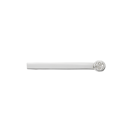 Gucci Tie bar in silver with interlocking G